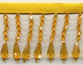 Gold Decor Beaded Fringe - Yard(s) - Product Image