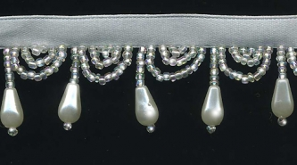 """""""Pearls & Swags"""" Beaded Fringe: yard(s) - Product Image"""