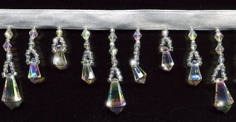 "Iridescent ""Teardrops of Joy"" Beaded Fringe: yard(s) - Product Image"