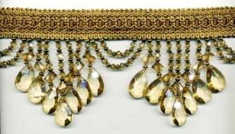 """Venice """"Pale Gold"""" Beaded Fringe yard(s) - Product Image"""