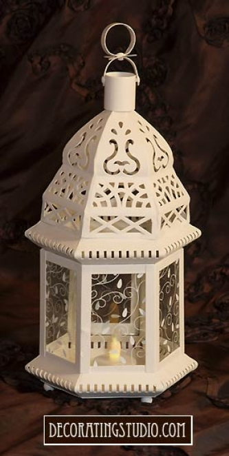 Ivory Wedding Lantern - Product Image