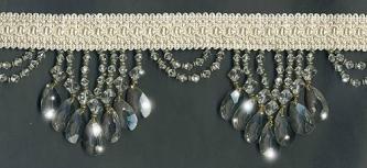 "Venice ""Crystal"" Beaded Fringe - sample - Product Image"