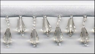 """Beaded Drop Fringe Trim - """"Crystal Clear"""" yard(s) - Product Image"""