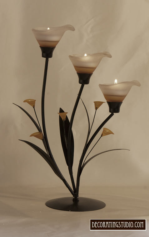 Art Nouveau Calla Lilly Tealight Candleholder - Product Image