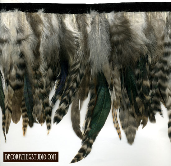 """Birds of a Feather"" Feather Trim - 10 Yd Bolt - Product Image"
