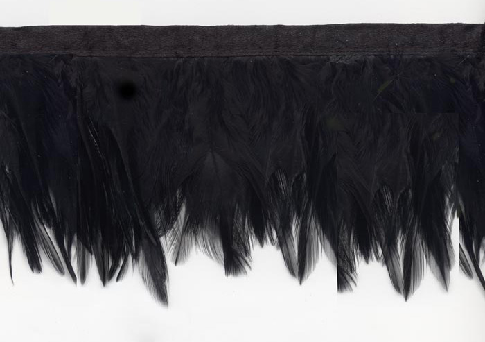 """Black Raven"" Feather Trim - Yard(s) - Product Image"