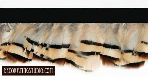 """Cafe au Lait""  Feather Trim - 10 Yd Bolt - Product Image"