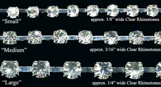 Crystal Clear Rhinestone Trim - Product Image
