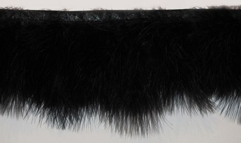 """Black Cloud"" Marabou Feather Trim - Yard(s) - Product Image"