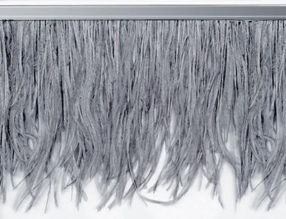 "Ostrich Feather Trim in ""Dark Grey"" - Yard(s) - Product Image"