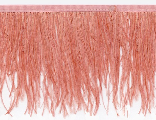 "Ostrich Feather Trim in ""Watermelon"" - Yard(s) - Product Image"