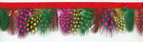 """Polka Dot Bright"" Feather Trim - 10 Yd Bolt - Product Image"