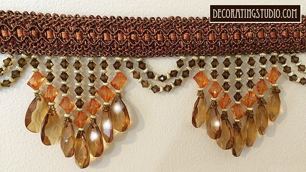 "SAMPLE of Venice ""Terracotta"" Beaded Fringe - Product Image"