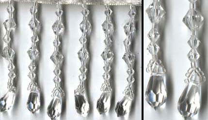 "Teardrops Beaded Fringe - ""Diamonds"" - yards - Product Image"
