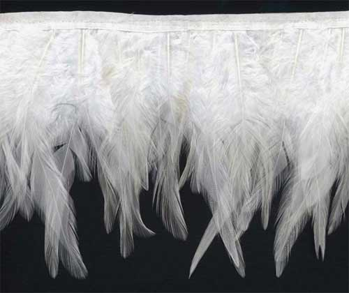 """Wings of an Angel"" Feather Trim - 10 Yd Bolt - Product Image"