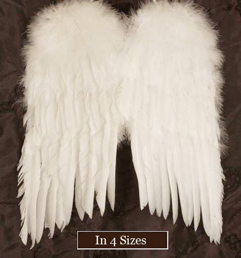 White Feather Angel Wings - Product Image