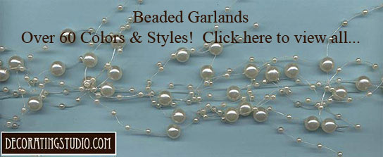 ivory pearl beaded garland
