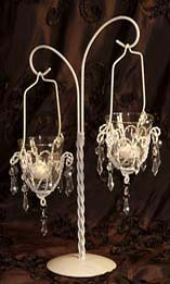 hanging votive chandelier