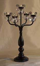 formal crystal candelabra