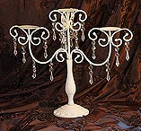 ivory wedding candelabra
