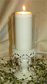 hurricane wedding candle