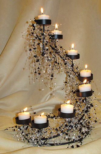 beaded wedding centerpiece