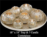 centerpiece tray with candleholders