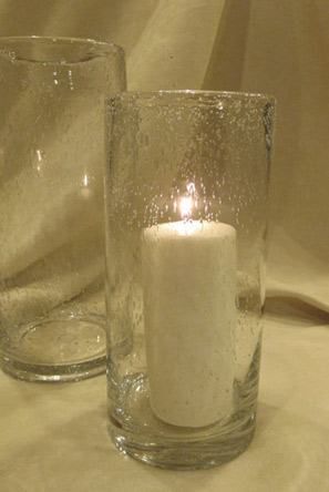 tuscany recycled glass vase or candleholder