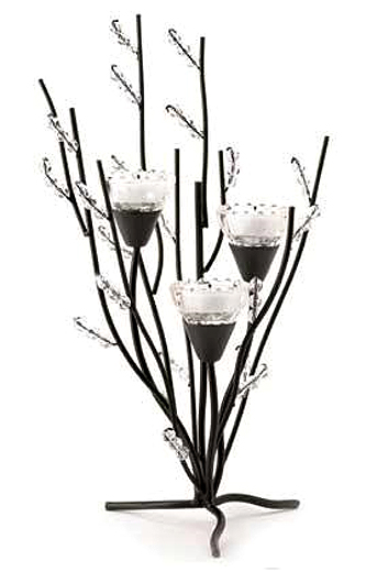 crystal candle tree centerpiece