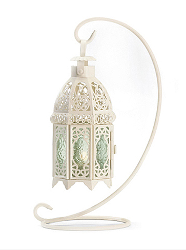 hanging white lantern centerpiece