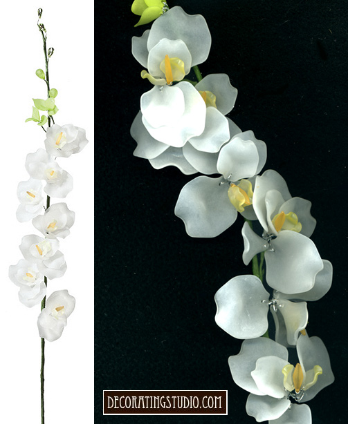 white acylic orchid stem