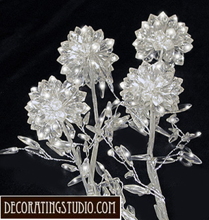 crystal flower stems