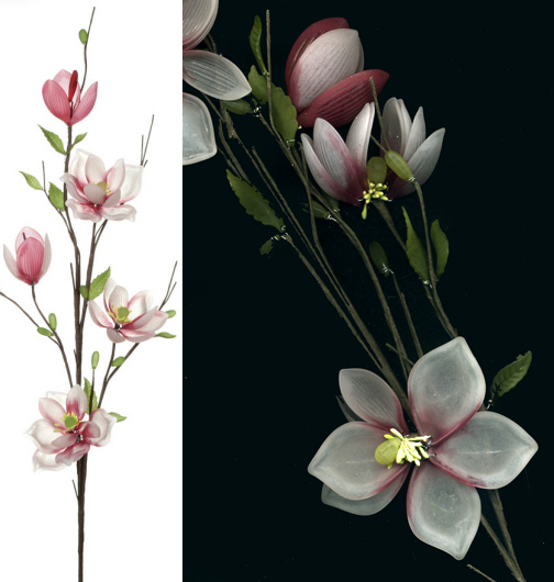 pink magnolia acrylic floral stem