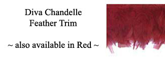 Diva Chandelle Feather Fringe Trim In 4 Colors