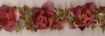 Bridal Shop Flower Trim in Pink & Beige