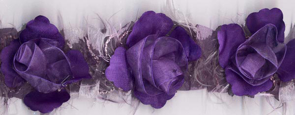 Flower Trim in Purple