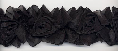 black organza flower trim