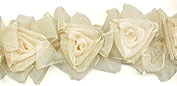 ivory organza wedding table decor