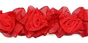 red organza flower trim