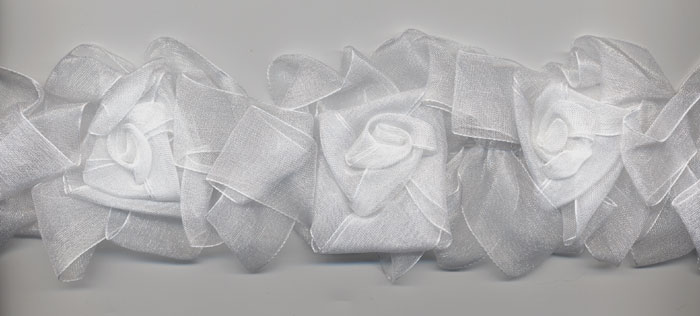 white organza flower trim