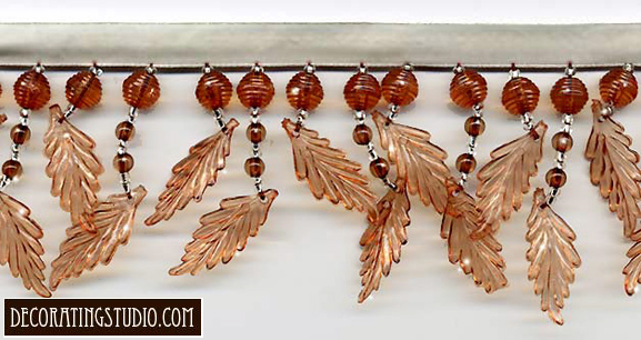 autumn leaves beaded trim