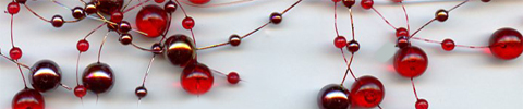 pearl garland red garnet