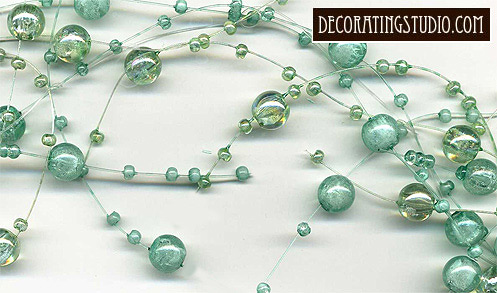 iridescent aqua pearl garland decor