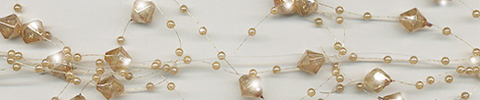 beaded garland iridescent gold