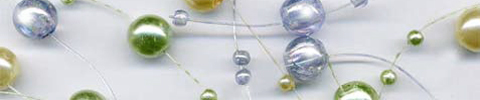 beaded garland iridescent pearls