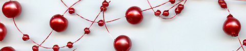 beaded garland metallic red