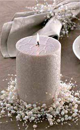 beaded candle and beaded napkin ring