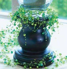 beaded garland candle centerpiece decoration