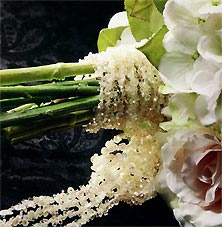 bridal bouquet beaded wrap