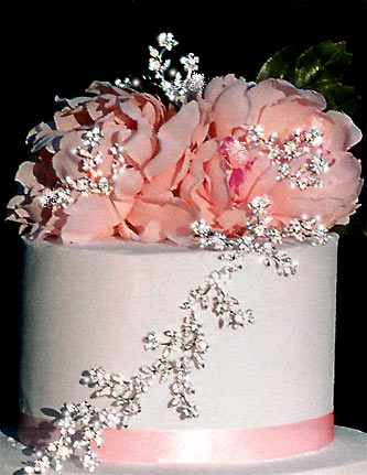 Cascading Flowers (3 vines & 3 accents) Cake Topper Jewelry - Product Image